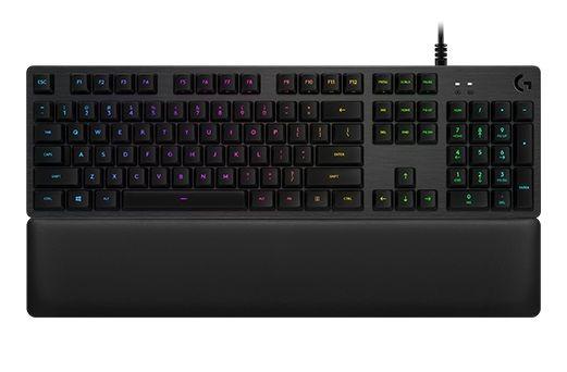 Клавиатура Logitech G513 Tactile Carbon механическая черный USB Multimedia LED (подставка для запястий)