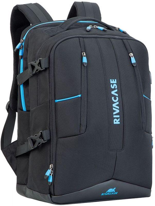 """Рюкзак для ноутбука 17.3"""" Riva 7860 черный полиэстер"""