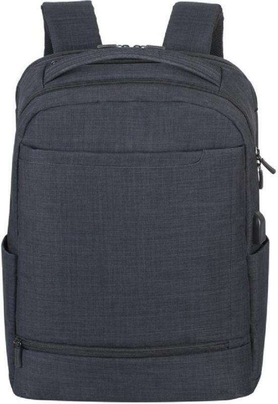 """Рюкзак для ноутбука 17.3"""" Riva 8365 черный полиэстер"""