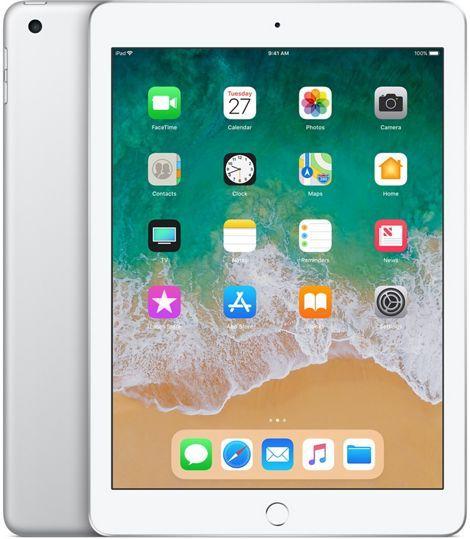 "Планшет Apple iPad 2018 MR732RU/A A10 Fusion 4C/RAM2Gb/ROM128Gb 9.7"" IPS 2048x1536/3G/4G/iOS/серебристый/8Mpix/1.2Mpix/BT/WiFi/Touch/EDGE/10hr"