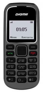 Мобильный телефон Digma Linx A105 2G 32Mb серый моноблок 1.44