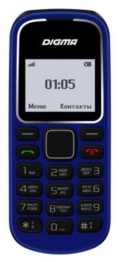 Мобильный телефон Digma Linx A105 2G 32Mb темно-синий моноблок 1.44
