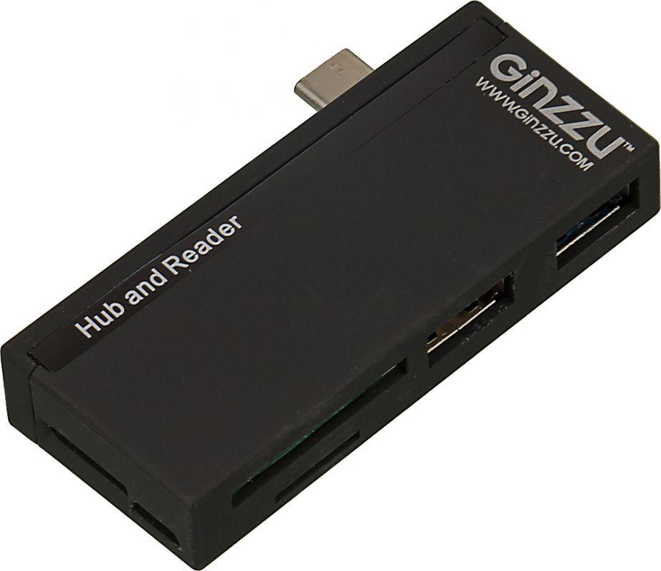 Устройство чтения карт памяти Type C Ginzzu GR-562UB черный
