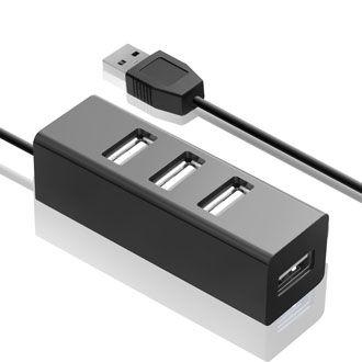 Разветвитель USB 2.0 Ginzzu GR-474UB 4порт. черный