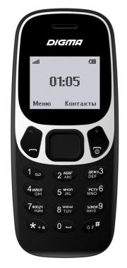 Мобильный телефон Digma Linx A105N 2G 32Mb черный моноблок 1.44