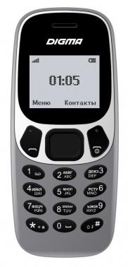 Мобильный телефон Digma Linx A105N 2G 32Mb темно-серый моноблок 1.44