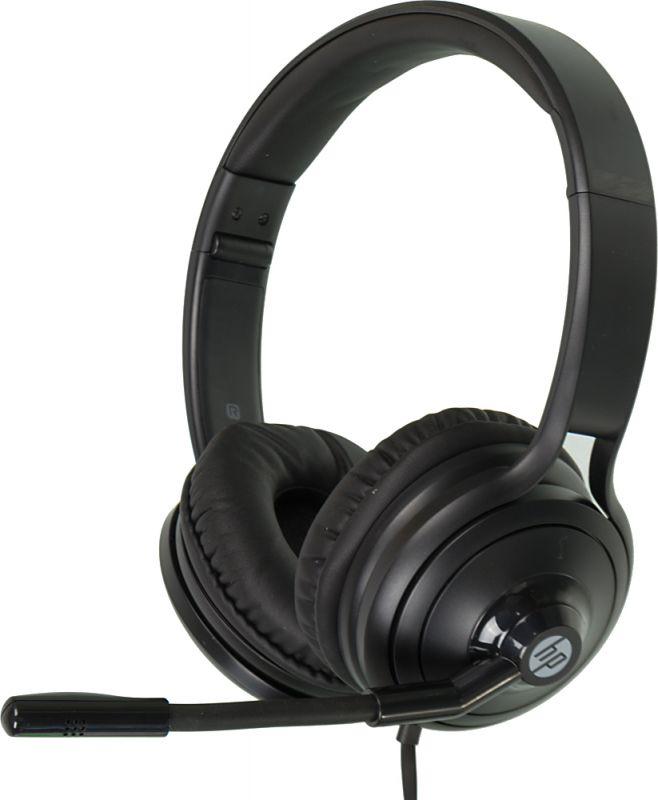 Наушники с микрофоном HP USB 500 черный накладные USB оголовье (1NC57AA)