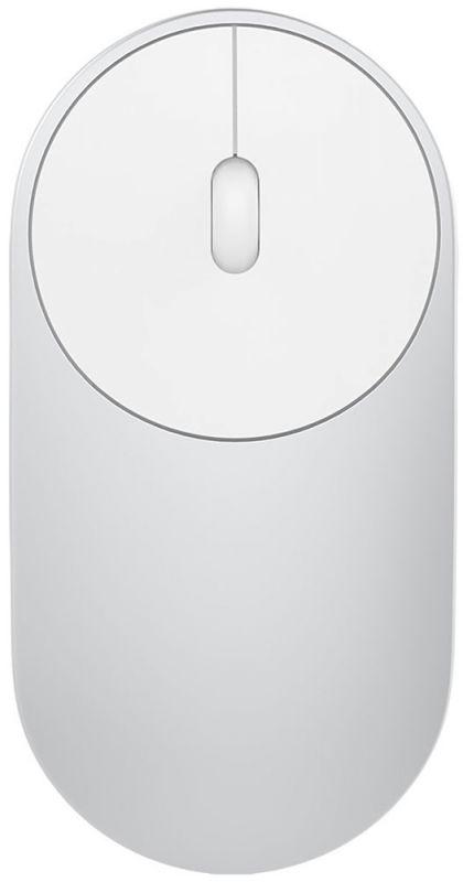 Мышь Xiaomi Mi Portable Mouse серебристый оптическая (1200dpi) беспроводная BT для ноутбука (2but)