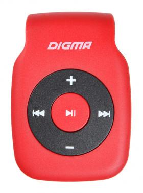 Плеер Flash Digma P2 красный/черный/microSD/clip