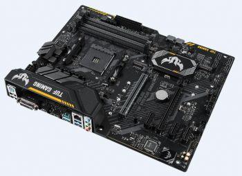 Материнская плата Asus TUF X470-PLUS GAMING Soc-AM4 AMD X470 4xDDR4 ATX AC`97 8ch(7.1) GbLAN RAID+DVI+HDMI