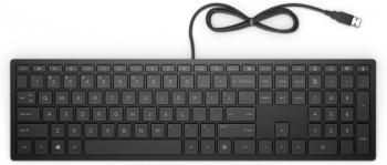 Клавиатура HP 300 RUSS черный USB slim
