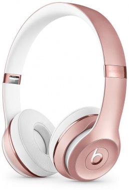 Гарнитура накладные Beats Solo3 1.36м розовое золото беспроводные bluetooth (оголовье)