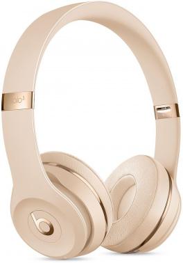 Гарнитура накладные Beats Solo3 1.36м золотистый глянцевый беспроводные bluetooth (оголовье)