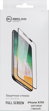 Защитное стекло для экрана Redline Full Screen черный для Apple iPhone X/XS 1шт. (УТ000012295)
