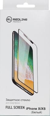 Защитное стекло для экрана Redline Full Screen белый для Apple iPhone X/XS 1шт. (УТ000012296)