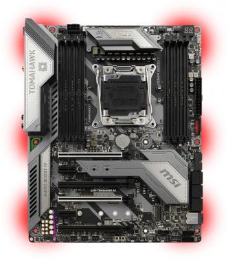 Материнская плата MSI X299 TOMAHAWK AC Soc-2066 Intel X299 8xDDR4 ATX AC`97 8ch(7.1) GbLAN RAID