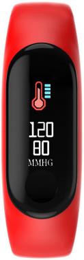 Смарт-браслет Smarterra FitMaster Color TFT черный/красный (SMFT-C01R)