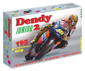 Игровая консоль Dendy Junior 2 белый +контроллер в комплекте: 195 игр
