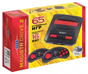 Игровая консоль Sega Magistr Drive 2 черный в комплекте: 65 игр