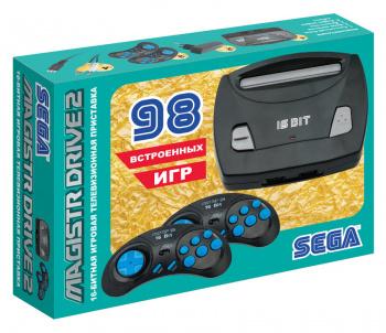 Игровая консоль Sega Magistr Drive 2 черный в комплекте: 98 игр