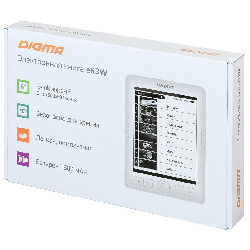 Электронная книга Digma E63W 6