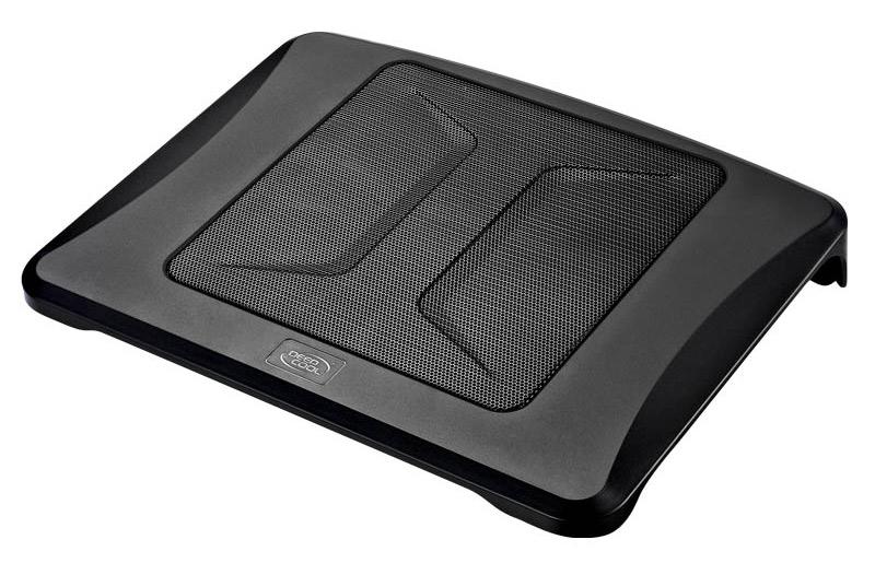 """Подставка для ноутбука Deepcool N300 15.6""""340x266x57мм 23дБ 1xUSB 1x 200ммFAN 558г алюминиевая сетка/пластик черный"""