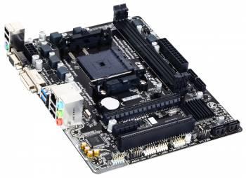 Материнская плата Gigabyte GA-F2A68HM-DS2 Soc-FM2+ AMD A68H 2xDDR3 mATX AC`97 8ch(7.1) GbLAN RAID+VGA+DVI