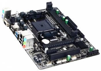 Материнская плата Gigabyte GA-F2A68HM-S1 Soc-FM2+ AMD A68H 2xDDR3 mATX AC`97 8ch(7.1) GbLAN RAID+VGA