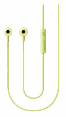 Гарнитура вкладыши Samsung EO-HS130 1.2м зеленый проводные (в ушной раковине)