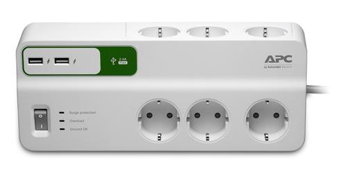 Сетевой фильтр APC PM6U-RS 2м (6 розеток) белый