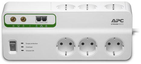 Сетевой фильтр APC PMH63VT-RS 3м (6 розеток) белый