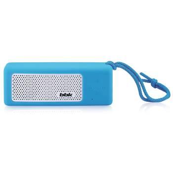 Аудиомагнитола BBK BTA190 синий/белый 5Вт/MP3/FM(dig)/USB/BT/microSD