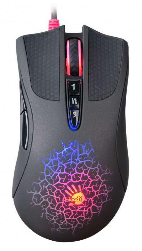 Мышь A4 Bloody A90 Blazing черный оптическая (4000dpi) USB2.0 игровая (8but)