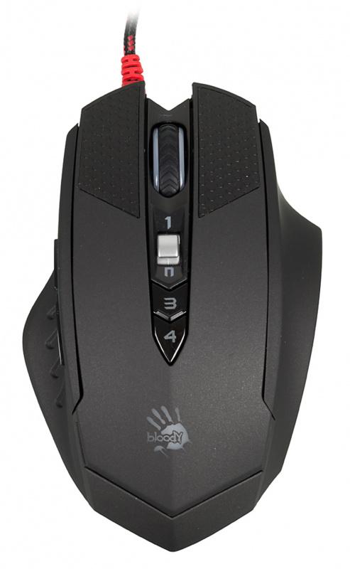 Мышь A4 Bloody T70 Winner черный/серый оптическая (4000dpi) USB2.0 игровая (9but)