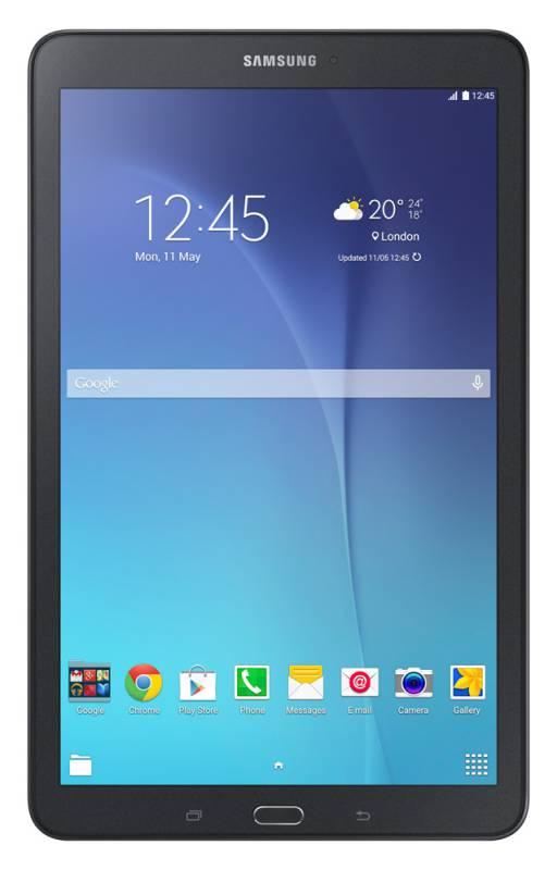 "Планшет Samsung Galaxy Tab E SM-T561 (1.3) 4C/RAM1.5Gb/ROM8Gb 9.6"" TFT 1280x800/3G/Android 4.4/черный/5Mpix/2Mpix/GPS/WiFi/Touch/microSDXC 128Gb/minUSB/5000mAh"