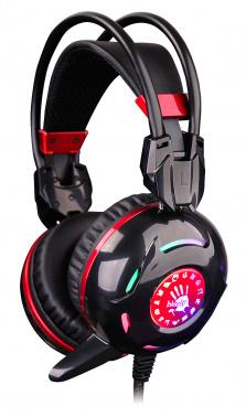 Наушники с микрофоном A4 Bloody G300 черный/красный 2.2м мониторы оголовье (G300)