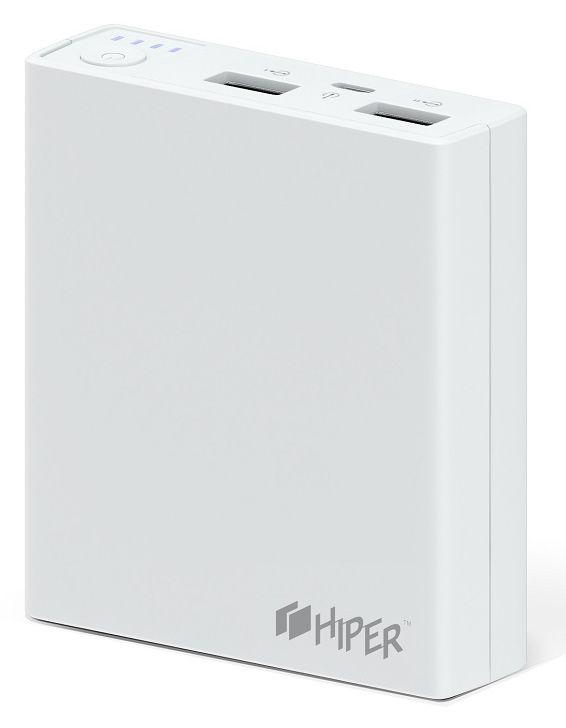 Мобильный аккумулятор Hiper RP7500 Li-Ion 7500mAh 2.1A+1A белый 2xUSB