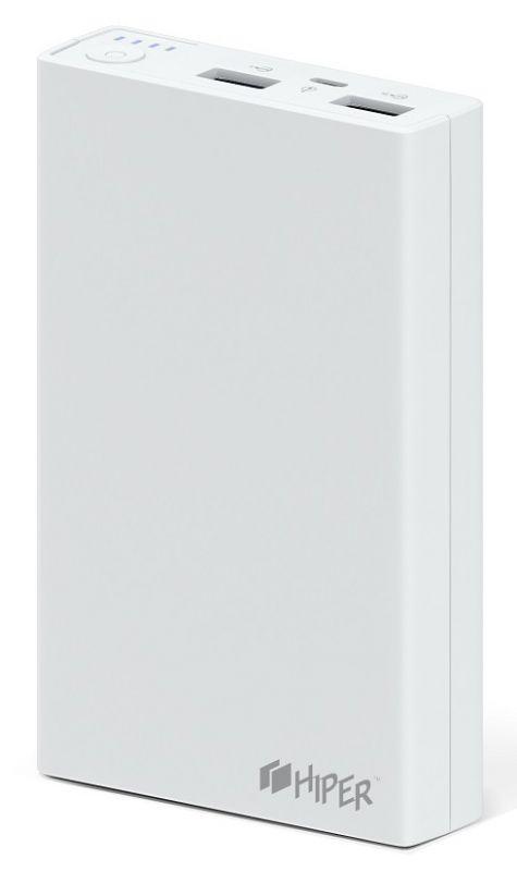 Мобильный аккумулятор Hiper RP12500 Li-Ion 12500mAh 2.1A+1A белый 2xUSB