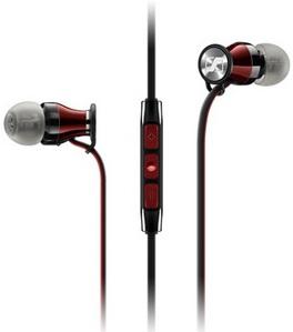 Наушники с микрофоном Sennheiser MOMENTUM In-Ear M2 IEi красный/черный 1.3м вкладыши в ушной раковине (506231)