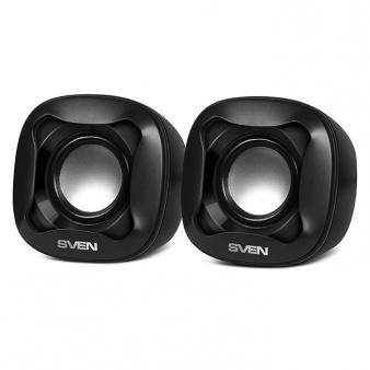 Колонки Sven 170 2.0 черный 5Вт