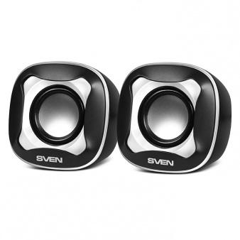 Колонки Sven 170 2.0 черный/белый 5Вт