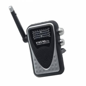 Радиоприемник карманный Сигнал Vikend City черный/серебристый