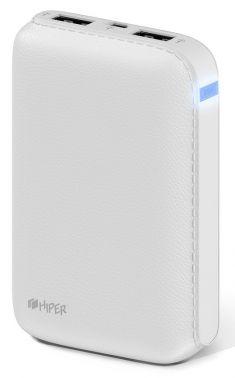 Мобильный аккумулятор Hiper SP7500 Li-Ion 7500mAh 2.1A+1A белый 2xUSB