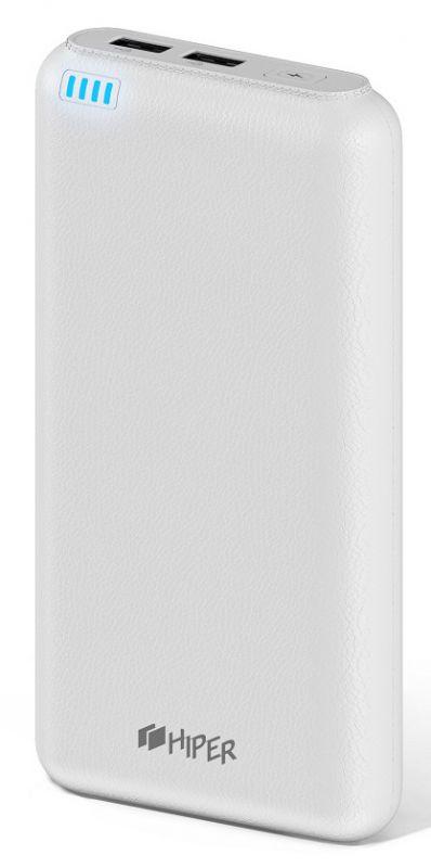 Мобильный аккумулятор Hiper SP20000 Li-Ion 20000mAh 2.1A+1A белый 2xUSB