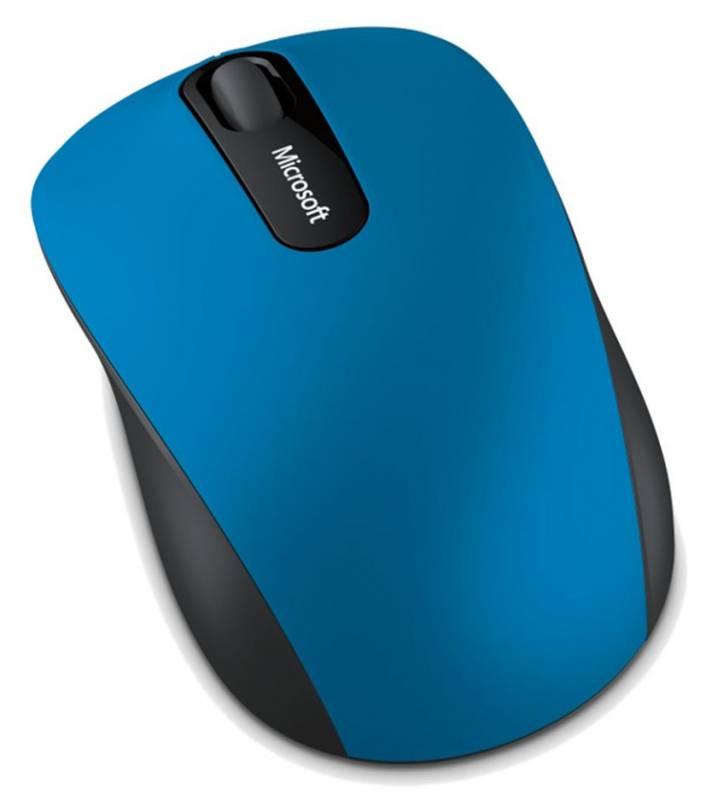 Мышь Microsoft Mobile 3600 голубой/черный оптическая (1000dpi) беспроводная BT (2but)