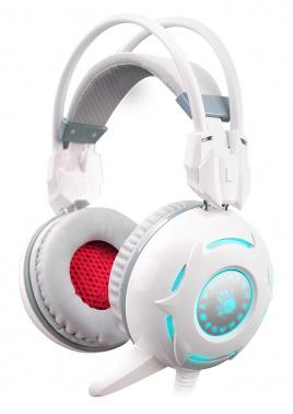Наушники с микрофоном A4 Bloody G300 белый 2.2м мониторы оголовье (G300)