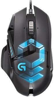 Мышь Logitech G502 RGB черный оптическая (12000dpi) USB2.0 игровая (11but)