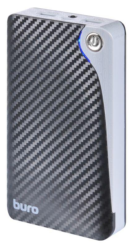 Мобильный аккумулятор Buro RA-12750 Li-Ion 12750mAh 2.1A+1A черный 2xUSB