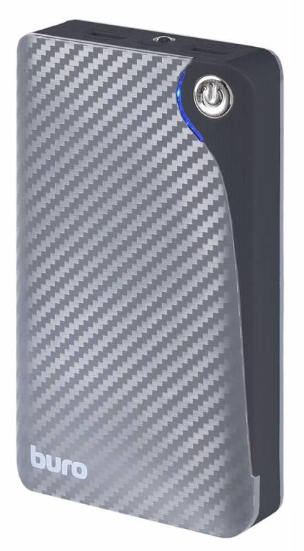 Мобильный аккумулятор Buro RA-11000 Li-Ion 11000mAh 2.1A+1A серый 2xUSB