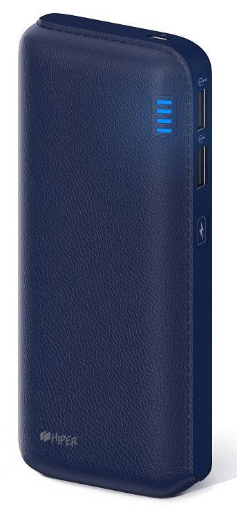 Мобильный аккумулятор Hiper SP12500 Li-Ion 12500mAh 2.1A+1A синий 2xUSB